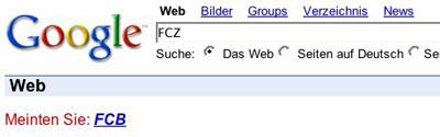 Meinten Sie FCB FCZ
